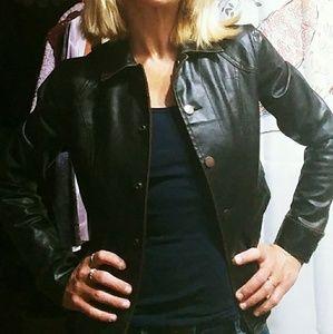 Ladies,black,pleather jacket